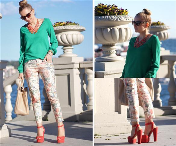 Son Dönem Modası Çiçekli Pantolonlar