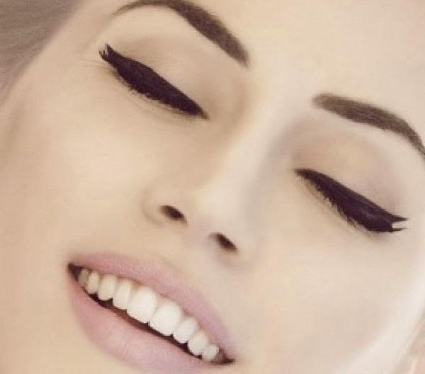 yakın gözlere eyeliner