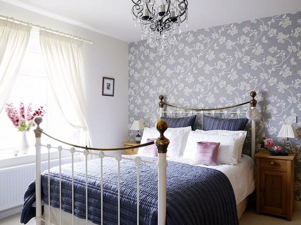 Retro tarzı yatak odası