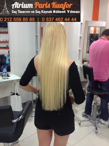 boncuk saç kaynak uygulaması