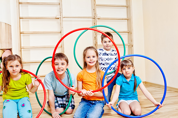 çocukların spor yapması